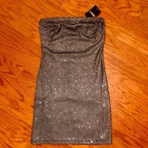 NWT Strapless Glittery Bodycon Dress Size S